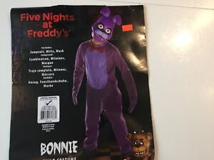 Costume Halloween Bonnie Five nights at Freddy's enfant Large