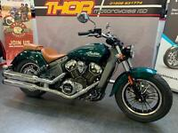 Indian SCOUT 1200 JADE METALLIC ONLY 300 MILES TWIN SEAT A1 COND £10450