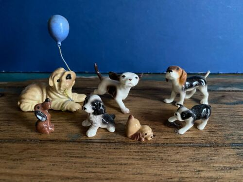 Lot of 7 Hagen Renaker Dogs - all Perfect