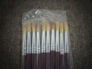10 x artist faux squirrel round bristle paint brushes for Faux painting brushes
