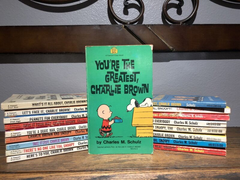 Lot Of 18 Vintage Peanuts Snoopy Charlie Brown Paperback Books Schulz