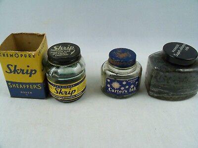 Vintage Empty Dry Parker Superchrome Sheaffers Skrip Carters Ink Bottles for sale  New Brighton