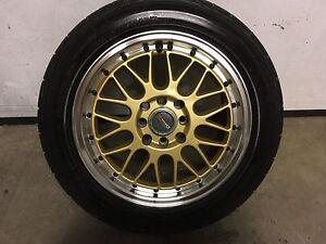 "Rims mags 15"" pneu Dunlop dirizza 195x55r15 tires"