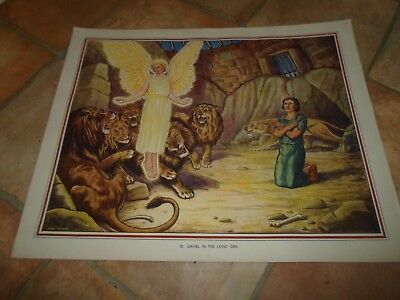 Lions Den Bible (DANIEL IN THE LIONS' DEN - Enid Blyton Bible Series Print by John Turner)