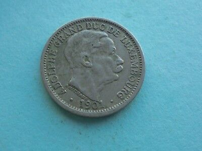 Luxembourg, 10 Centimes 1901  in Good Condition.