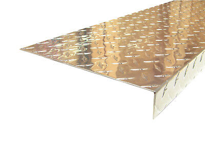 Aluminum Diamond Plate Angle .062 X 1.5 X 10.88 X 48 In. Staircase Cover 2pcs