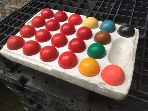 Set Of 52mm Snooker Balls