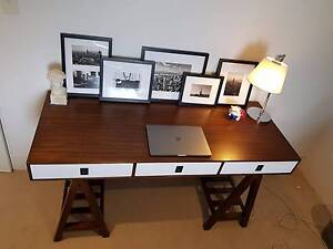 Like New Coco Republic Felix Trestle Desk Bellevue Hill Eastern Suburbs Preview
