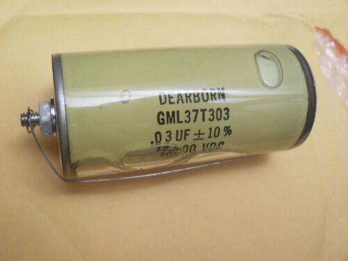 GML37T303 DEARBORN capacitor 0.03uF 12500V Glass Axial