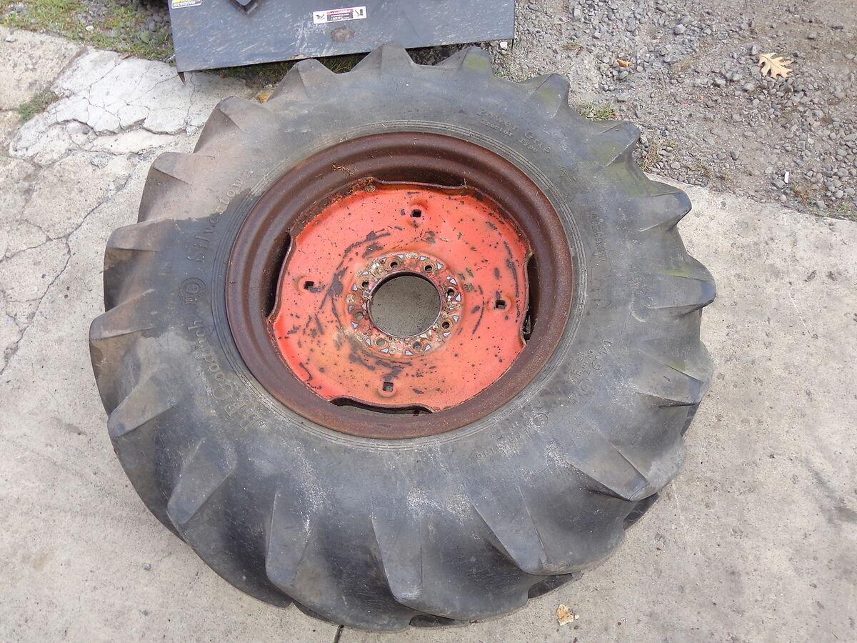 Case 530CK Backhoe Loader Rear Tire Rim BF Goodrich 14 9x24 Nice Wheel 530