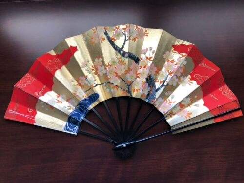 Vintage Japanese Hand painted Folding Fan