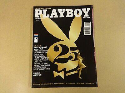 DUTCH MAGAZINE PLAYBOY N° 6 2008 25 JAAR BEKEND BLOOT