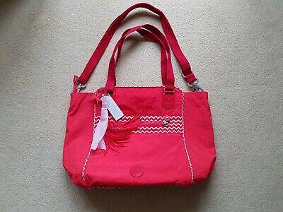 Kipling Partylicious Tote Bag, Shoulder, Hand, Shopper, Red, BNWT