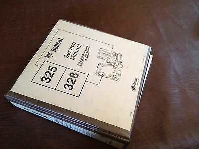 Bobcat Excavator 325 328 Loader Service Manual Melroe