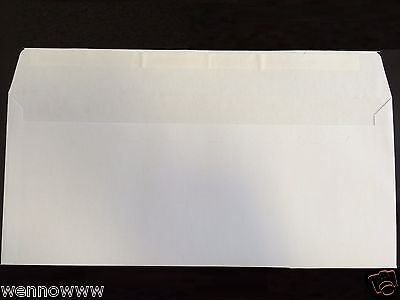 50 Peel Self-seal White Letter Mailing Long Envelopes Shipping 4-18x9-12