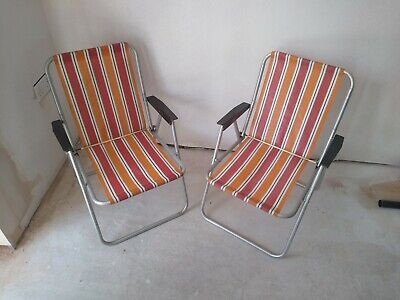 Pair of Retro Deck Chairs 1970's