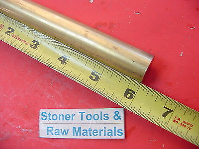 34 C360 Brass Round Rod 6 Long Solid .75 Diameter New Lathe Bar Stock H02