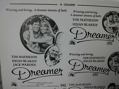 DREAMER Movie Mini Ad Sheet Vintage Advertising Poster Clip Art Tim Matheson