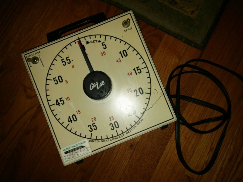 Vintage Gralab Gra Lab Darkroom Timer Model 167 With Alarm Buzzer White 1 Plug