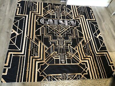Great Gatsby Birthday (Great Gatsby BirthDay Party Gold & Black 8x8FT Fabric Backdrop Photo)