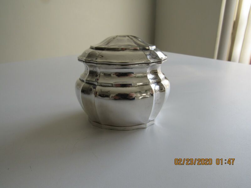 Old sterling silver (800) German tea caddy box, perfect condition!