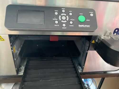 TREATBOT automatic pretreater, Anajet printer Mp10Power, Bella Canvas t-shirts,