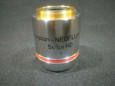 Carl Zeiss Epiplan Neofluar 5x0.15 Hd 44 23 24 Microscope Objective Lens 442324