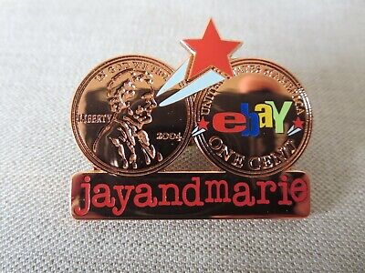 JayandMarie eBay Red Shooting Star Penny Pin Rare and Hard to Find