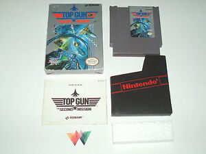 TOP GUN 2 THE SECOND MISSION - Nintendo NES - COMPLETE IN BOX CIB CLASSIC FLIGHT