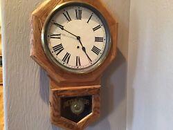 VINTAGE WATERBURY REGULATOR CLOCK