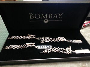 BOMBAY WINE BOTTLE  BRACELET SET Kitchener / Waterloo Kitchener Area image 1