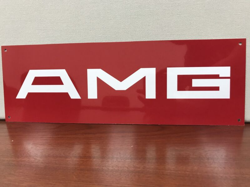 Mercedes Benz AMG premerger Classic racing garage sign baked 18x6