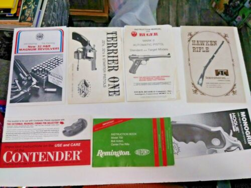 Vintage Gun & Rifle Advertising Pamphlets & Owners Manuals + FBI NCIS Rules Lot