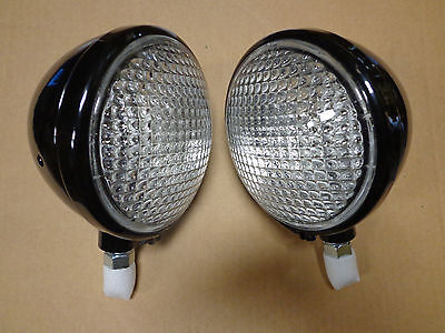 John Deere A B G L La Front Head Light Lamp 6 Volt Set Of 2