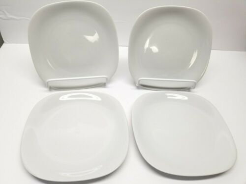 "BLOCK  LANGENTHAL TRANSITION WHITE  7.5"" SALAD PLATES LOT OF 4"