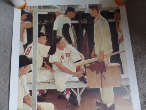18x20 Norman Rockwell  autographed print by Red Sox's Mickey McDermott