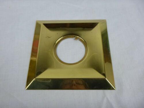 "Vtg Mid Century MOD Brass Tone Square Doorknob Backplate Escutcheon 5.75""x5.75"""