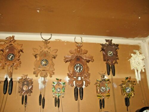 Large Collection (21) of Cuckoo Clocks (All Serviced)