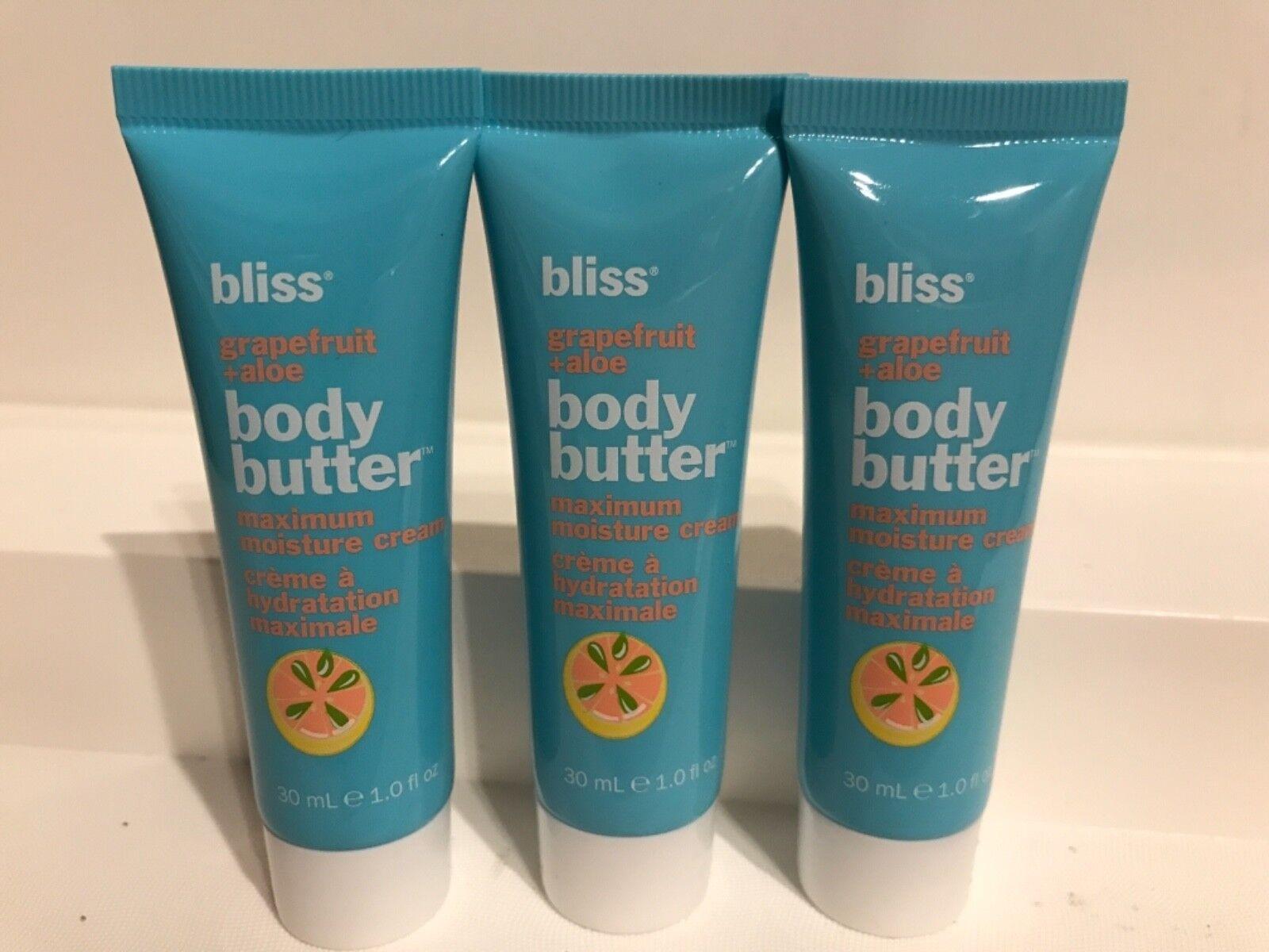 3 Bliss Body Butter Grapefruit+Aloe Maximum Moisture Cream 1