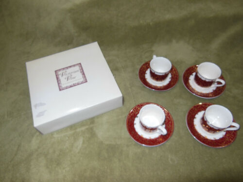 Victorian Vine  Demitasse Cup & Saucer Set of 4/ in box