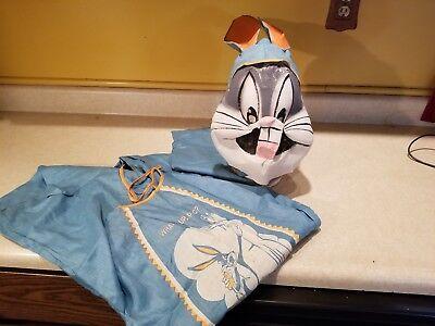 Vintage Bugs Bunny Halloween Costume w/ Mask, Hood & Ears and Body (Bugs Bunny Maske)