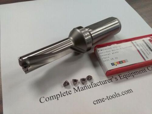 """U drill 3/4""""x2-1/2""""x5-1/4"""", 1"""" shank, index, w. Extra 4 WCMX03 inserts #UD-34"""