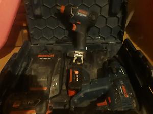 Bosch package hammer drill × 2 battery,  charger Bosch rattle gun Wellard Kwinana Area Preview