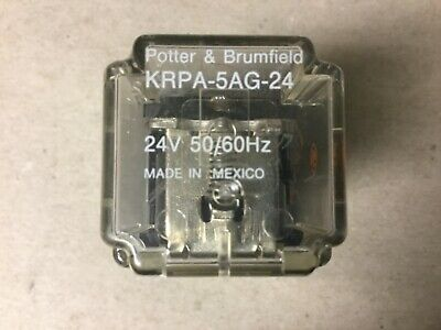 Potter Brumfield Krpa-5ag-24 Relay On Base With 24 Volt Coil