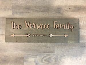 Custom family wood signs Christmas gifts.