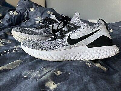 Nike Epic React Flyknit 2 Black Grey White Size UK 9 EU 44 RRP £135