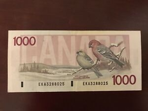 $1000. Dollar Canadian Bank Note