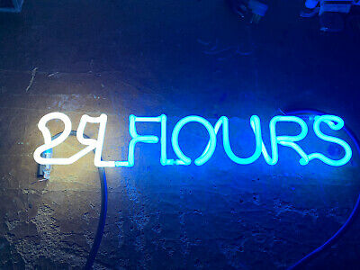 24 Hour Fitness Store Neon Sign Beer Light Part Piece Tubing Unit Script Letter