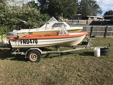 Nova craft Dinghy fibreglass Boat and trailer