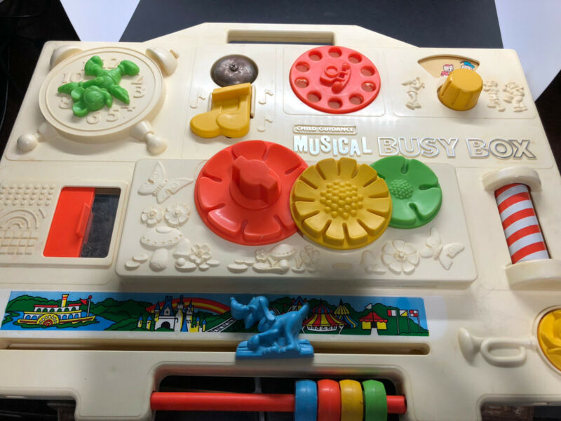 Vintage 1977 Gabriel Disney Baby Crib Toy Activity Center Musical Busy Box